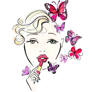 Mariposas de colores La+chioca+que+atrae+mariposas+de+colores.+Muach.