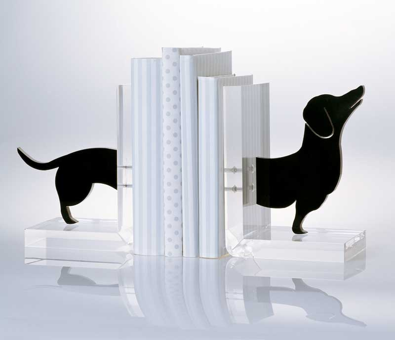Z Gallerie Pug Bookends Acrylic Dachshund bookends by