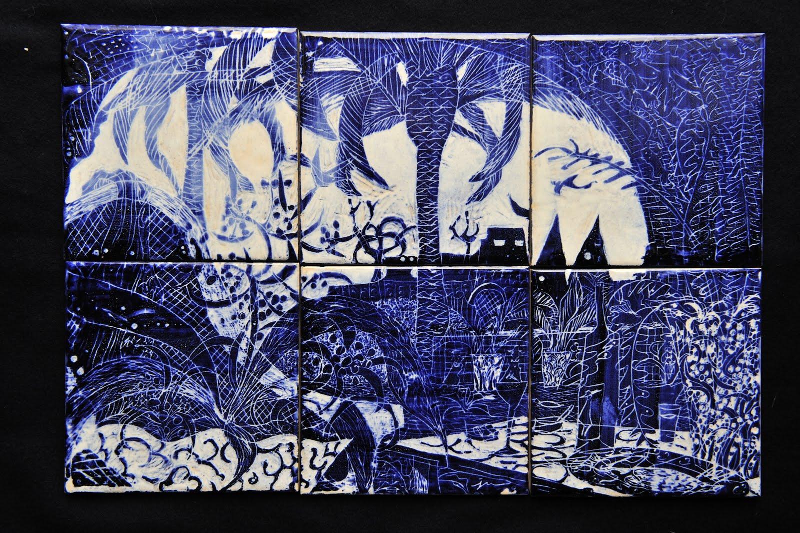 'Sintra' - conjunto de azulejos de Jun Shirasu