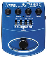 Dicas de uso do pedal de guitarra behringer gdi 21, gdi-21 gdi21 v-tone central rock fender mesa boogie marshal stompbox tweed high gain hi-gain heavy metal pedal pedais efeitos sansamp gt2 usar configurar configuração regular regulagem utilização