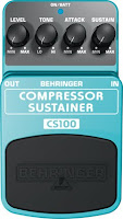 Teste do pedal compressor Behringer CS100 na Central do Rock