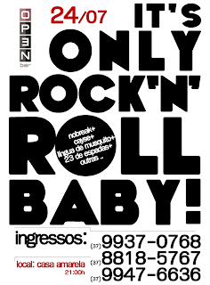 Festa It's Only Rock'n Roll Baby! em Lagoa da Prata