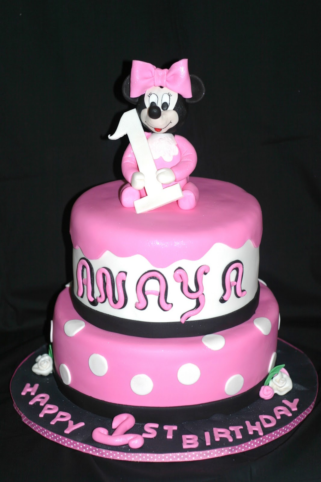 Minnie Mouse Images For Cake : My Pink Little Cake: Baby Minnie Mouse Birthday Cake