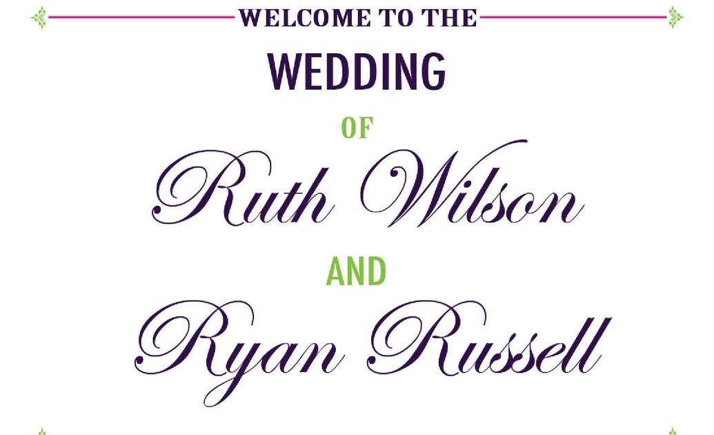custom printables ruth and ryans wedding program