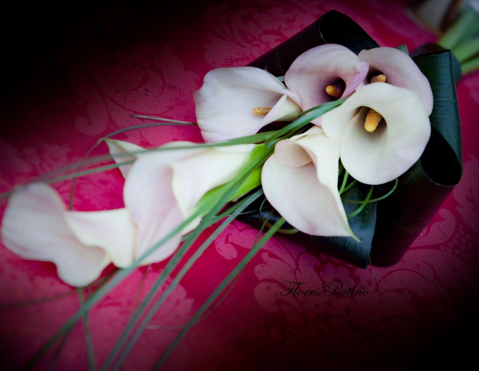 Flores pati o ramo de calas - Como hacer un ramo de flores artificiales ...