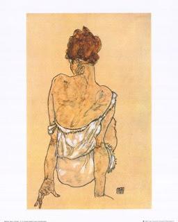 sitting woman- schiele