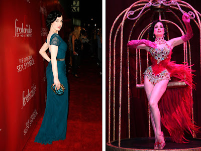 Dita Von Teese at Frederick's of Hollywood Spring 2008 show