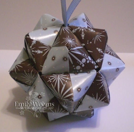stamping expressions more sonobe origami christmas ornaments
