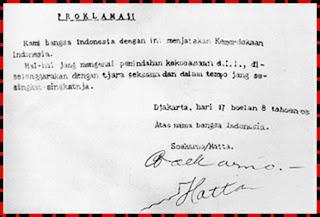 Pelaksanaan Proklamasi Kemerdekaan Indonesia