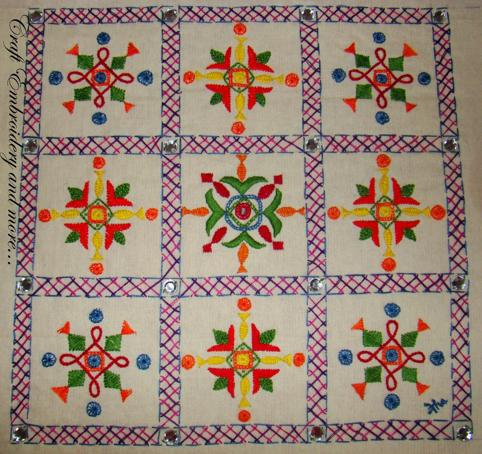 Gujarati Embroidery Motifs | Makaroka.com