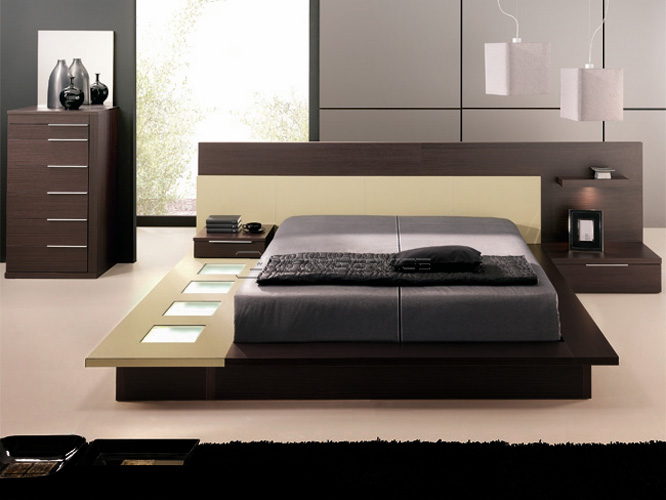 Minimalist designs modern bedroom furniture interior for Modern minimalist bed