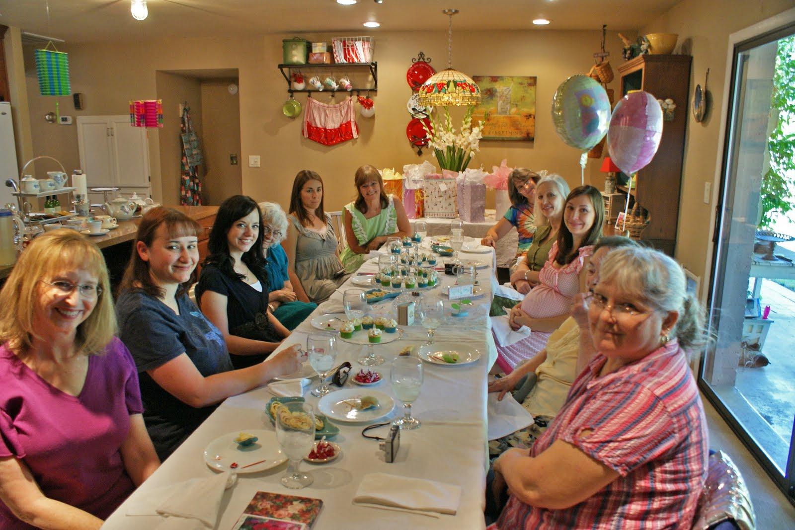 Reminisce high tea baby shower