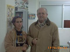J. Manuel junto a Fátima, una bella marroquí