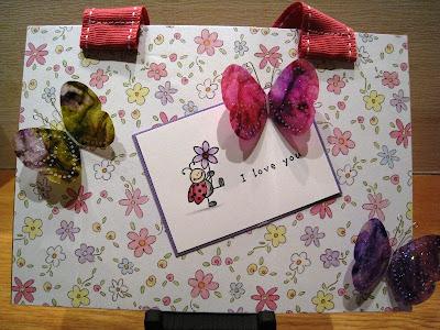 Ladybug crafts ink make and take for Make it take it crafts