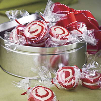 Peppermint Pinwheel Cookies