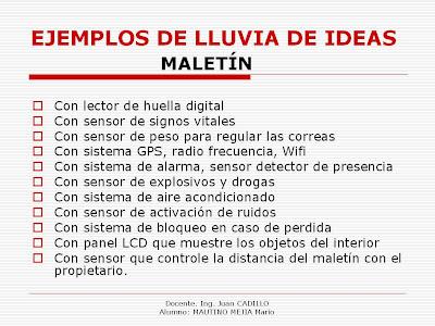 EJEMPLO LLUVIA - IDEAS