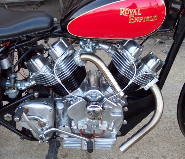 RoyalEnfields.com: New pictures of homemade Enfield V-twin
