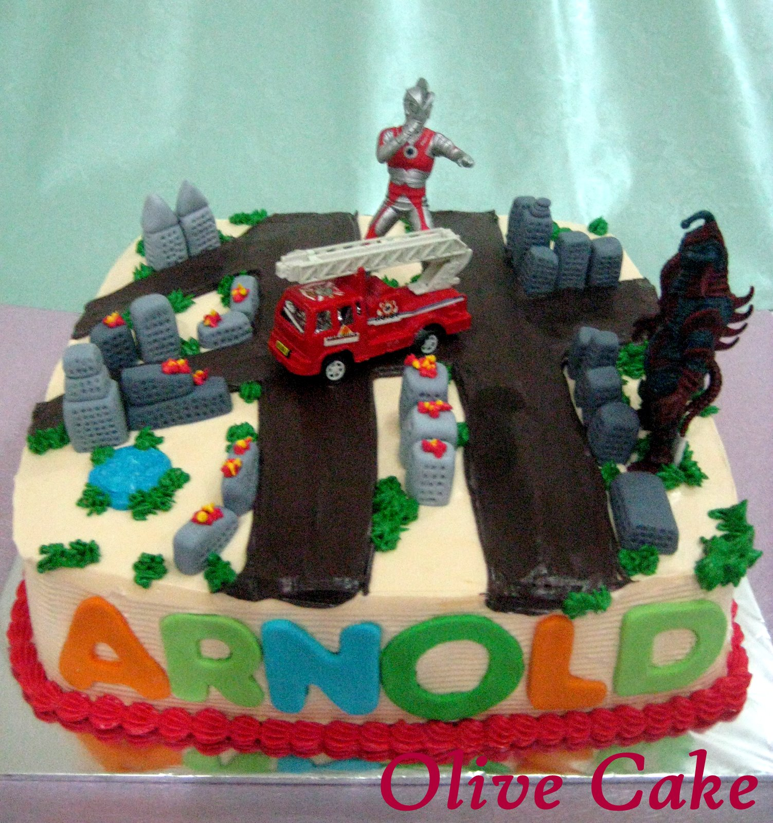 Ultraman Birthday Cake Design : Ultraman Photo Cake Cake Ideas and Designs