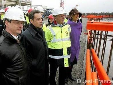 EDF, EPR de Flamanville, visite de Nicolas Sarkozy, sur Terre Natale