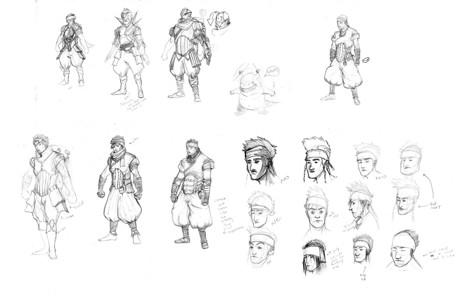 The Character Design Process : Art of ngianhormua s l yang main character design process