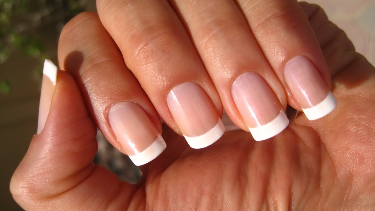 French Polish Pedicure Free Hand French Pedicure