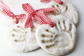 Salt dough hand print ornament