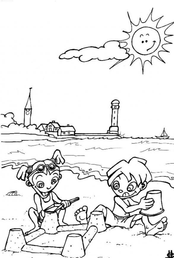 Dibujo para colorear de las estaciones del año - Imagui