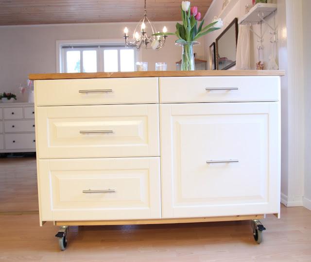 Ikea kjøkkenøy på hjul