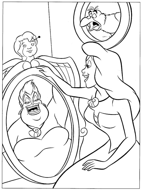 Disney Soul Dibujos para colorear de La Sirenita