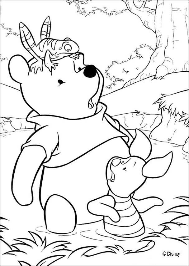 Encantador Pooh Libro Para Colorear Modelo - Dibujos Para Colorear ...