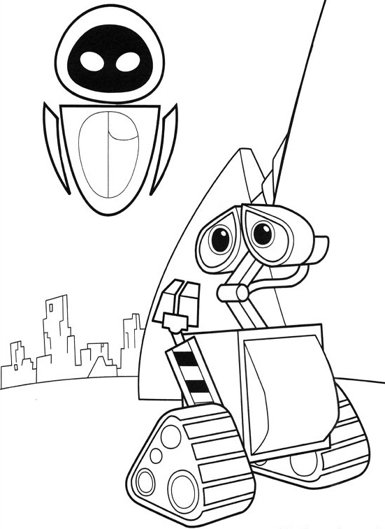 disney wall e coloring pages - photo#15