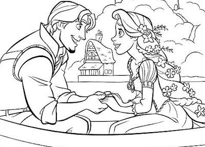 dibujos para colorear de la nueva película de Disney, Enredados