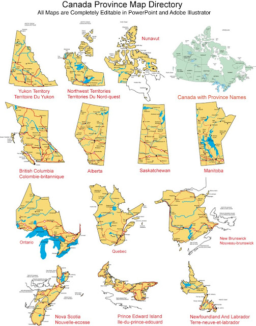 how to draw canadian provinces