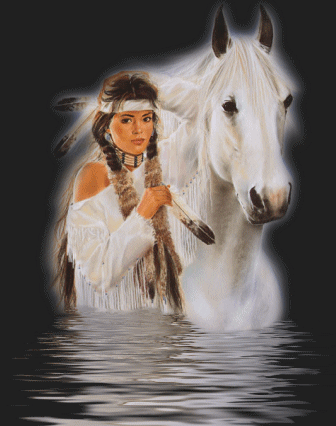 native american horse woman