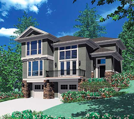 House designs house plans designs for Sloped lot house plans