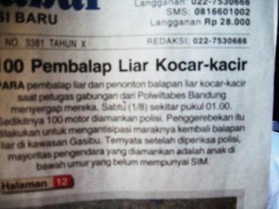 Di Indonesia Pembalab Liar - Di Malaysia Mat Rempit