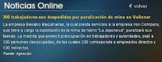 noticia teletrece online, Noviembre 8, 2008