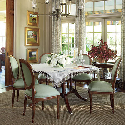 Our southern nest southern living idea house for Southern dining room