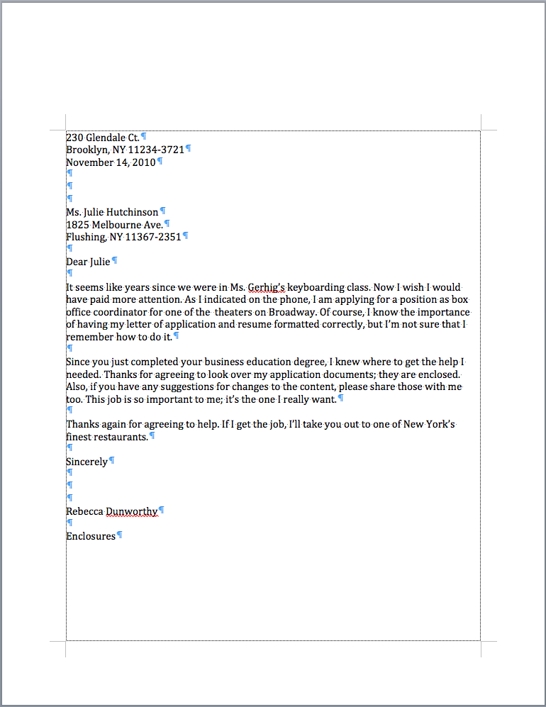 Mrs Marshalls Blog Personal Business Letter Example
