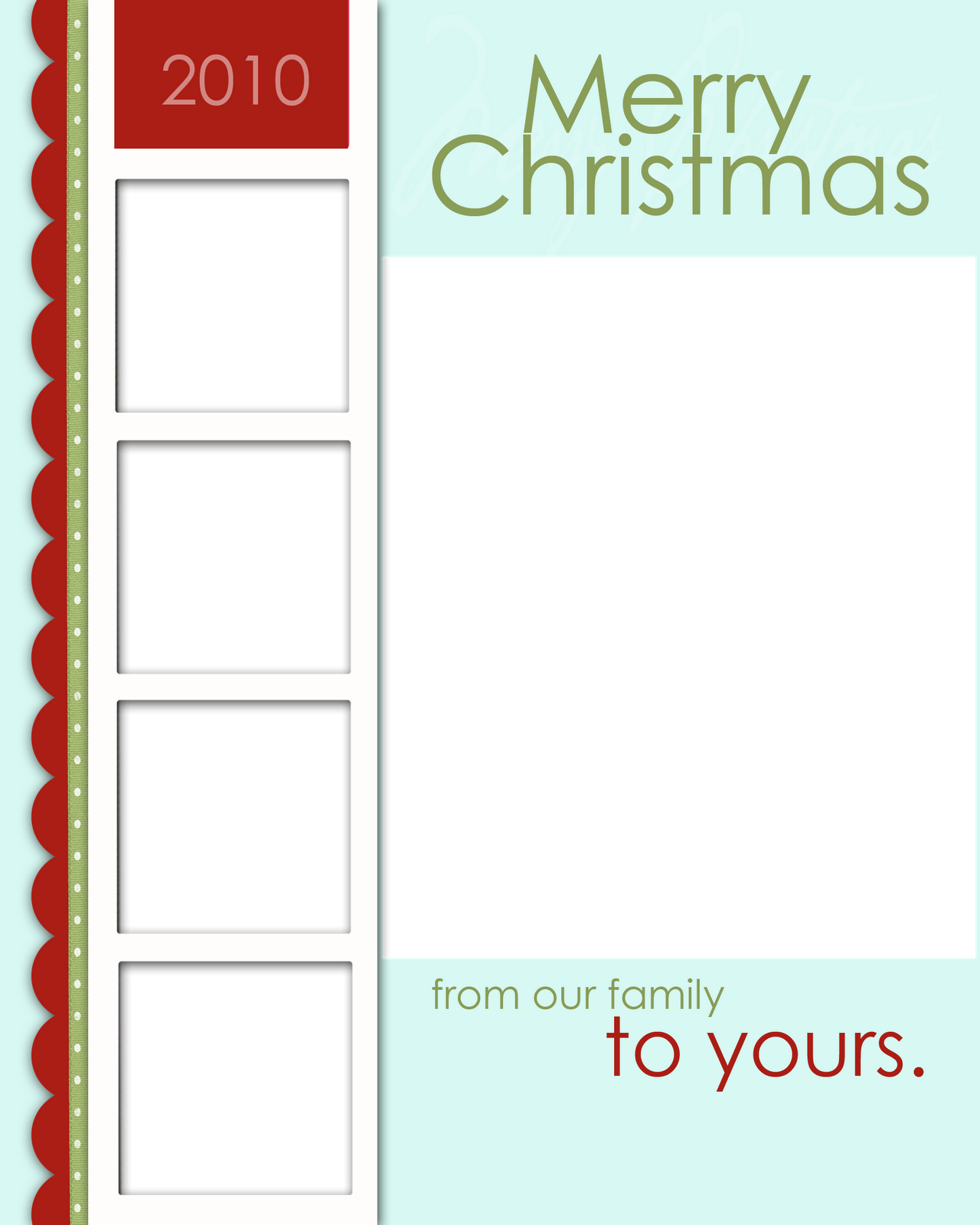 Milkandhoneydesigns my loss your gain free christmas for Free holiday card templates