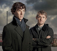 BBC Sherlock. Benedict Cumberbatch & Martin Freeman