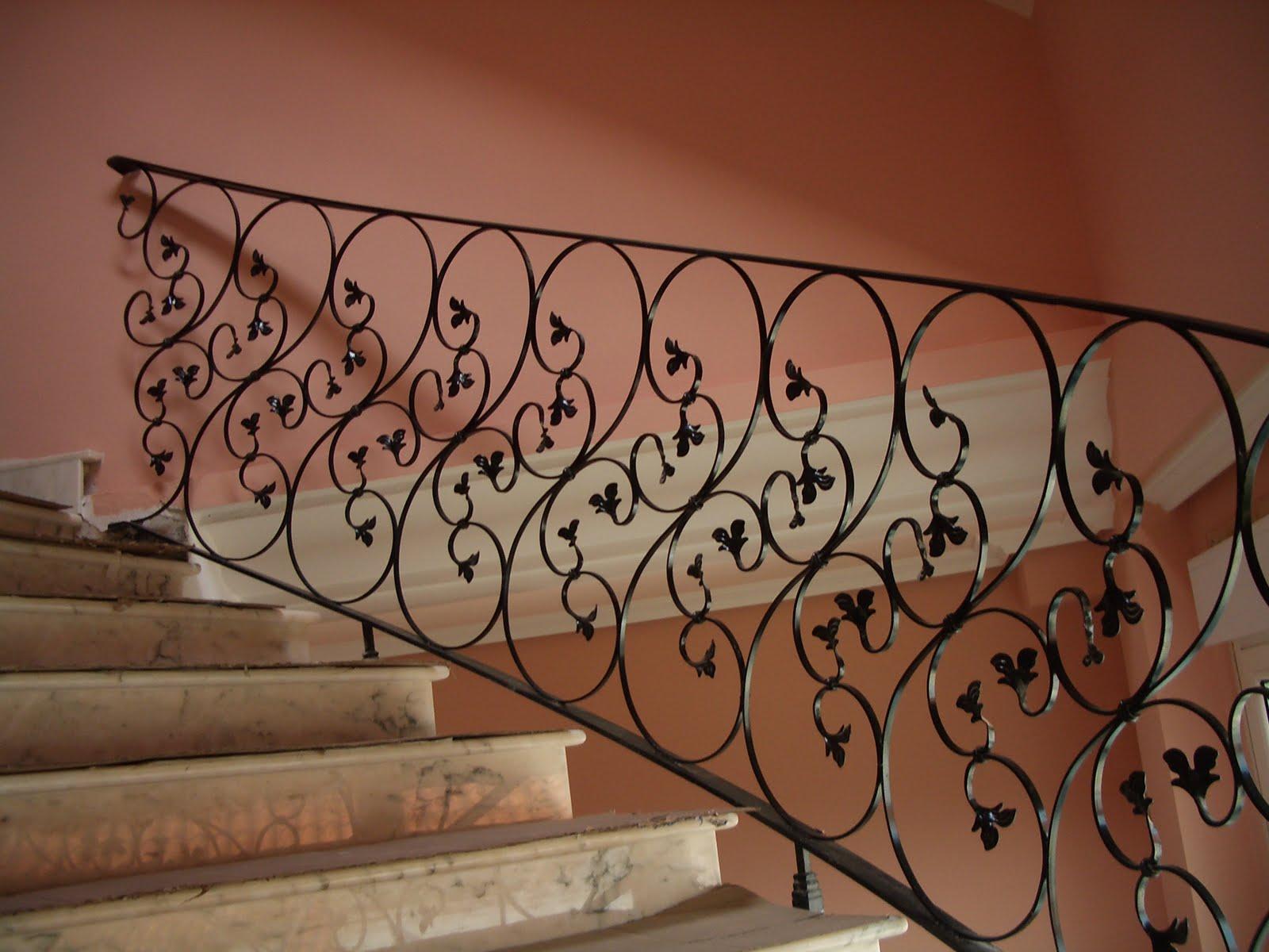 Talleres gra a s l pasamanos de hierro a coru a - Barandillas de forja para escaleras de interior ...