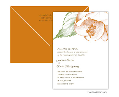 Wedding Invitation Fall Floral Custom Logo Labels Invitations Logos