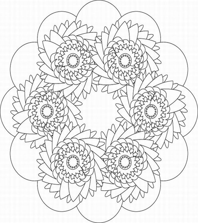 Free Coloring Pages Kaleidoscope Printable Of