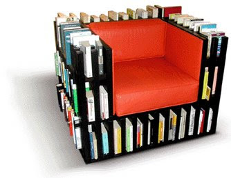 Chair book shelf design