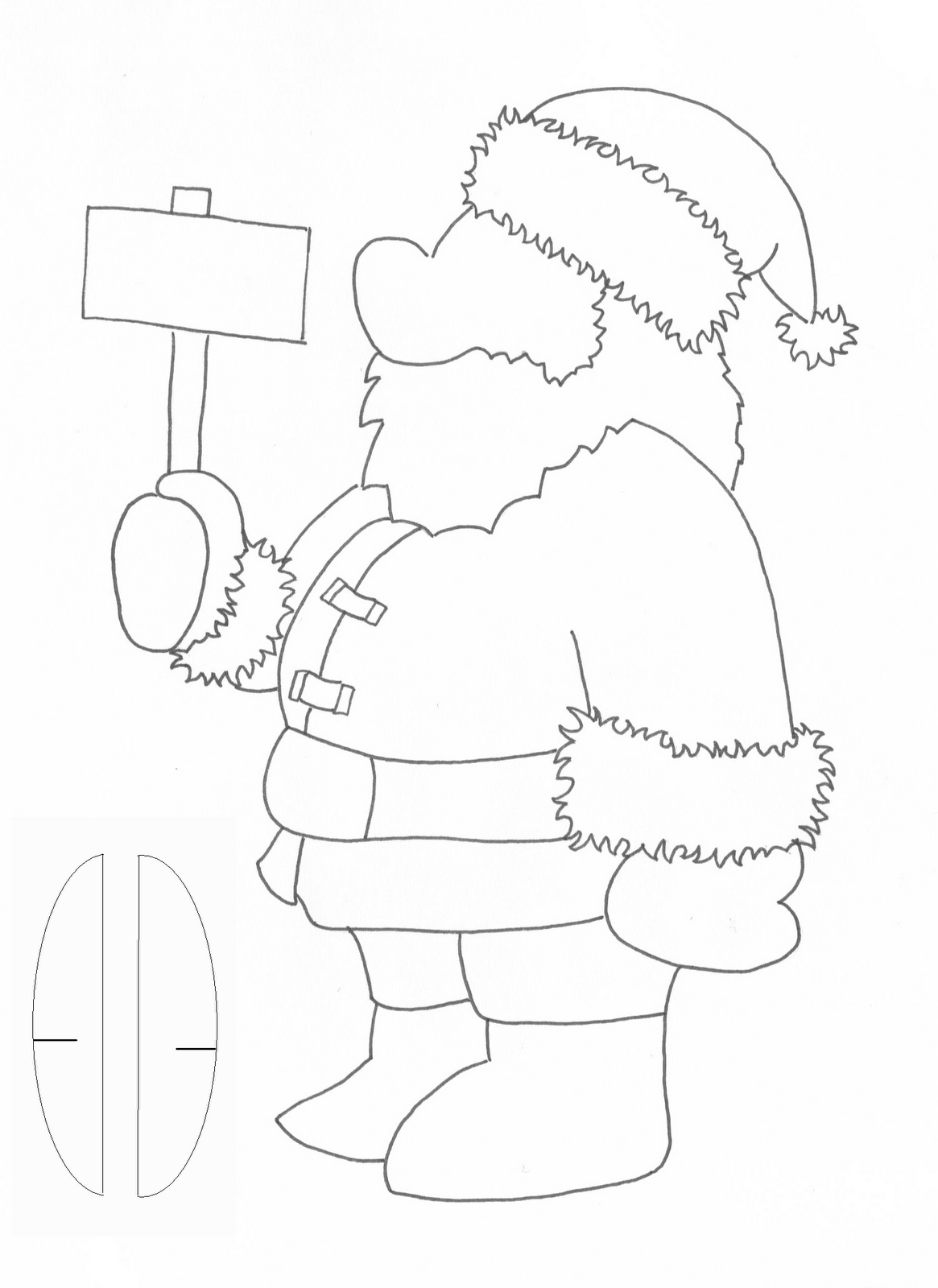 ... santa cut out template 465 x 640 jpeg 21kb using the template cut our