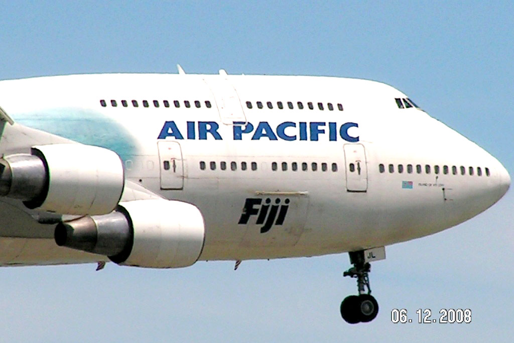plane spotting air pacific fiji airlines b747 400. Black Bedroom Furniture Sets. Home Design Ideas