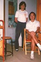 Primer entrenamiento con Maestro Li en su casa - 1998