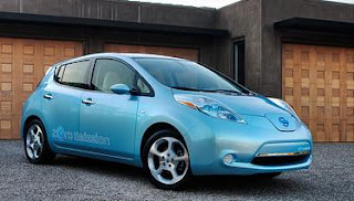 Nissan's electric-powered Leaf