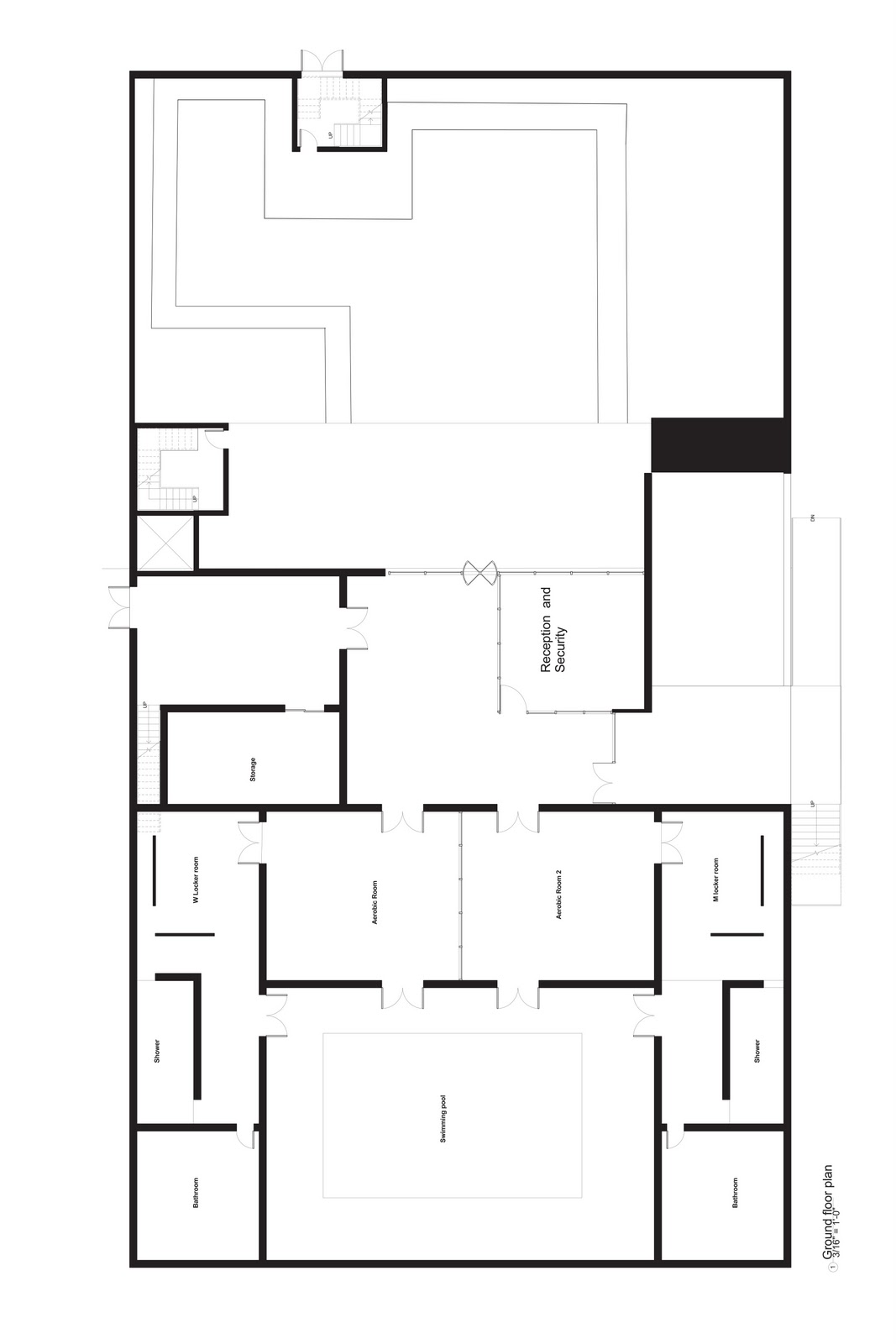 Arch 3611 theoretical design fire station floor plan and secitons for Fire station floor plans design